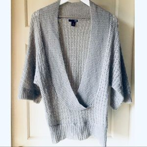 H&M Deep V Neck Sweater Gray S